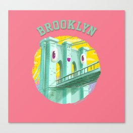 Happy Brooklyn Bridge Canvas Print