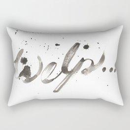 """Welp..."" Rectangular Pillow"