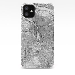 Portland White Map iPhone Case