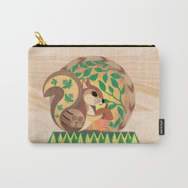 Geometric Squirrel Carry-All Pouch
