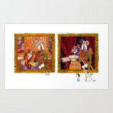 The General and His Wife AND The General and His Mistress Art Print