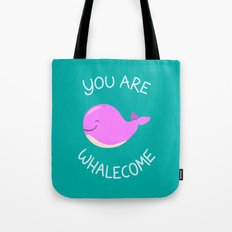 Whale, thank you! -Pink Version Tote Bag