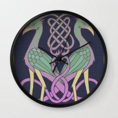 Celtic Knot Birds Wall Clock