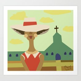 Church Lady Art Print