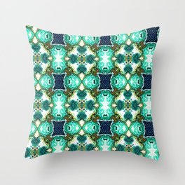 Blue Pattern 2 Throw Pillow