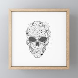 Super cool Skull Molecules Framed Mini Art Print
