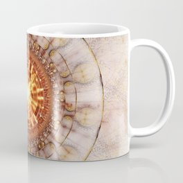 Aztec Medailon - Abstract Fractal Artwork Coffee Mug