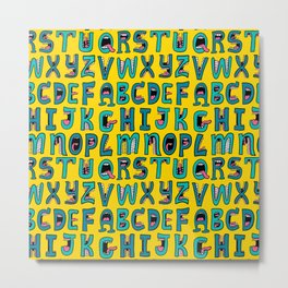 Loud Mouth Alphabet Metal Print
