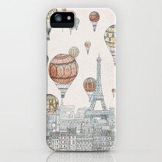 Voyages Over Paris iPhone (5, 5s) Slim Case