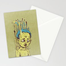The Golden Boy with Blue Hair Stationery Cards