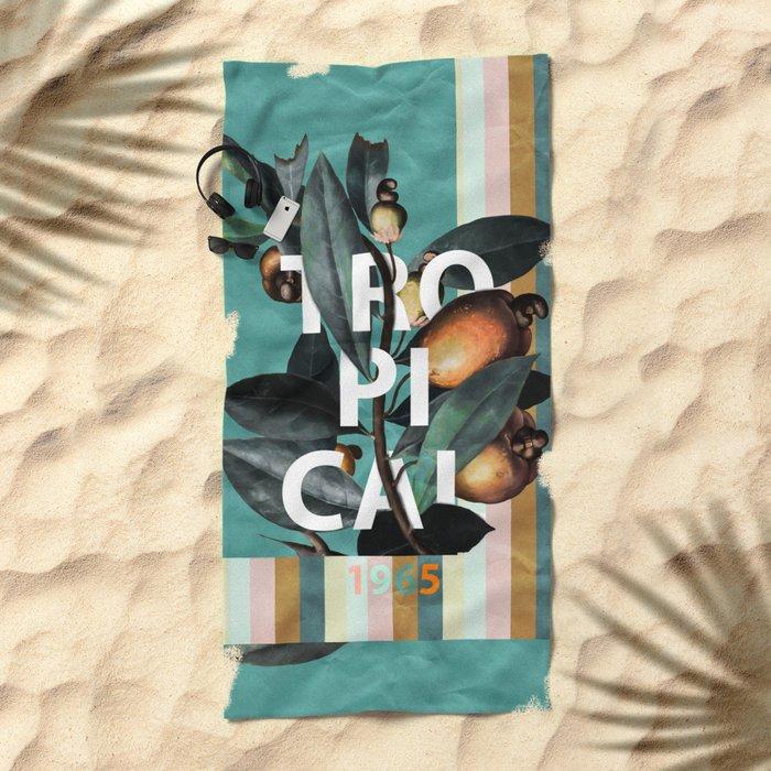 1965 Vintage Garden Beach Towel