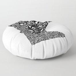 Typographic Minnesota Floor Pillow