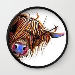 HiGHLaND CoW PRiNT SCoTTiSH ' SuGaR LuMP ' BY SHiRLeY MacARTHuR Wall Clock