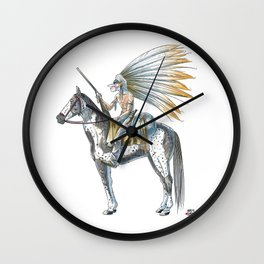 Numero 8 -Cosi che cavalcano Cose - Things that ride Things- Wall Clock