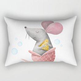 Mermouse Illustration Rectangular Pillow