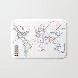 World Metro Subway Map Bath Mat
