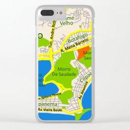 RIO map design - Brasil Clear iPhone Case