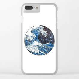 The Midnight Wave Clear iPhone Case