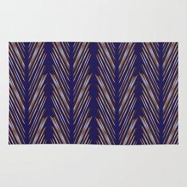 Navy Blue Wheat Grass Rug