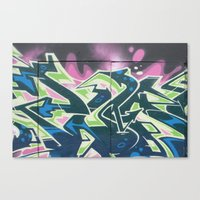 graffiti Canvas Prints featuring Graffiti by Chrissy Gensch