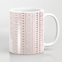 Earthy Peach Rose Gold African Pattern Coffee Mug