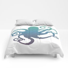 The Blue Octopus Comforters