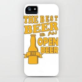 open beer - I love beer iPhone Case