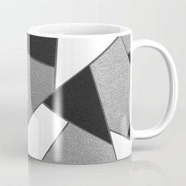 Silver Gray Black White Geometric Glam #1 #geo #decor #art #society6 Coffee Mug