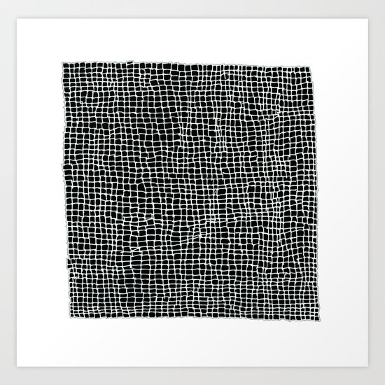 Squares - Imperfection - Inverted Art Print