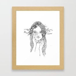 close your eyes, then you will see Framed Art Print
