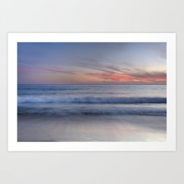 """Magical waves at sunset"" Art Print"