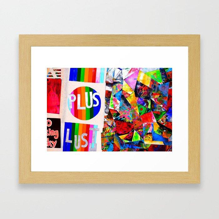 Plus lust Framed Art Print
