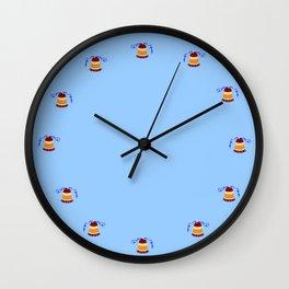 Bell and blue ribbon Wall Clock