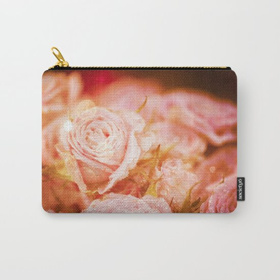 Roses with waterdroplets and bokeh Carry-All Pouch