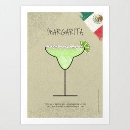 MARGARITA COCKTAIL Art Print