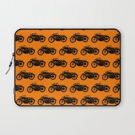 Antique Motorcycle // Orange Laptop Sleeve