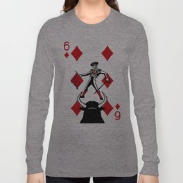 Curator Deck: The 6 of Diamonds Long Sleeve T-shirt