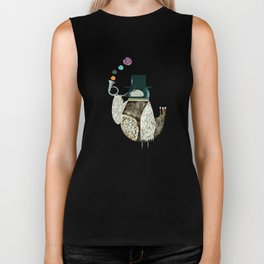 the dapper bird Biker Tank