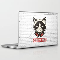 obey Laptop & iPad Skins featuring OBEY by solomnikov