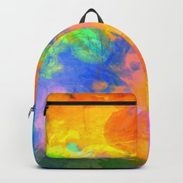 Spilt Rainbow - Abstract, watercolour art / watercolor painting Backpack