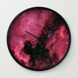 Emission Nebula Wall Clock