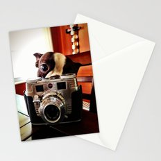 Terrier has an eye for photography Stationery Cards