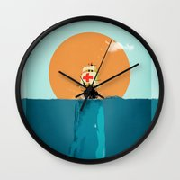 fish Wall Clocks featuring fish  by mark ashkenazi