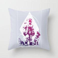 Purple Astronaut  Throw Pillow