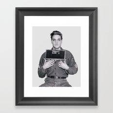 ELVIS PRESLEY - ARMY MUGSHOT Framed Art Print