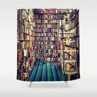 books Shower Curtains featuring Books by Whitney Retter