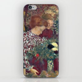 Edouard Vuillard Woman in a Striped Dress iPhone Skin