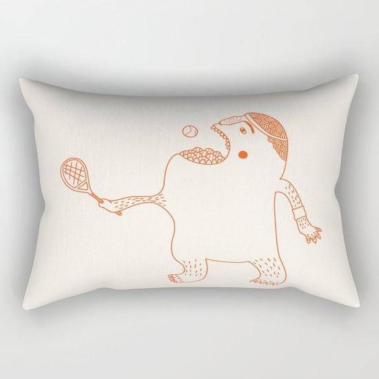 Game, Set and Munch Rectangular Pillow