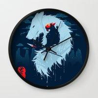 kodama Wall Clocks featuring Hime by Sergio Mancinelli