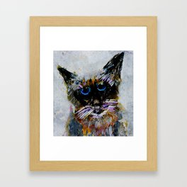 Old Cat Framed Art Print